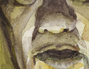 Here is a detail of the sketch showing a bit of lifting around the nose.